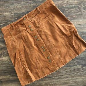 Very J corduroy button mini skirt